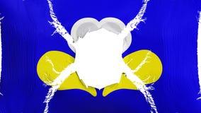 De vlag van Brussel met een gat stock illustratie