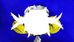 De vlag van Brussel met een groot gat stock illustratie