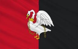 De vlag van Buckinghamshire is een plechtige provincie, Engeland vector illustratie