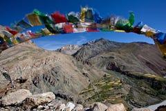 De vlag van Buhhist in ladakh Stock Foto's