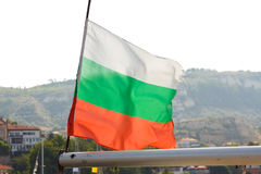 De vlag van Bulgarije Stock Fotografie