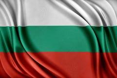 De Vlag van Bulgarije Vlag met een glanzende zijdetextuur Royalty-vrije Stock Afbeeldingen