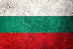 De vlag van Bulgarije van Grunge Bulgaarse vlag met grungetextuur Stock Foto