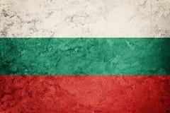 De vlag van Bulgarije van Grunge Bulgaarse vlag met grungetextuur Stock Foto's