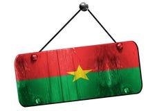 De vlag van Burkina Faso, het 3D teruggeven, uitstekend grunge hangend teken Royalty-vrije Stock Afbeeldingen