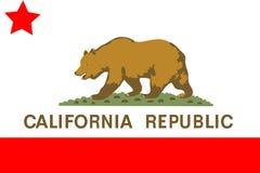 De vlag van Californië Stock Afbeeldingen