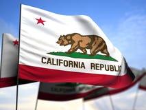 De Vlag van Californië Stock Foto's