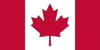 De vlag van Canada stock illustratie