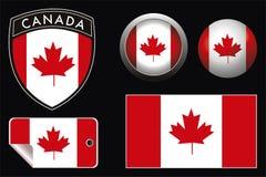 De vlag van Canada Stock Fotografie