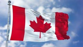 De Vlag van Canada in een Blauwe Hemel royalty-vrije illustratie