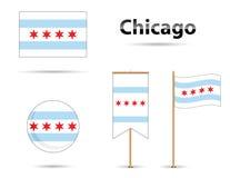 De vlag van Chicago Stock Afbeeldingen