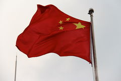 De Vlag van China stock afbeeldingen