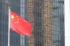 De Vlag van China Stock Afbeelding