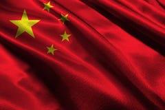 De vlag van China, 3D symbool van de de vlag 3D illustratie van China nationale Royalty-vrije Stock Afbeeldingen
