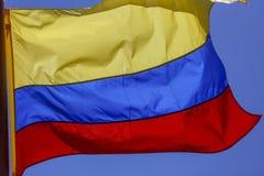 De Vlag van Colombia stock afbeeldingen