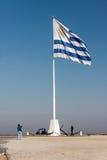 De Vlag van Colonia del Sacramento Uruguay Royalty-vrije Stock Foto's