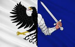 De vlag van Connacht is één van de provincies van Ierland stock afbeelding