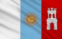 De vlag van Cordoba is een provincie in Argentinië stock illustratie