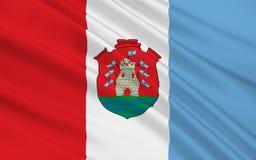 De vlag van Cordoba is een provincie in Argentinië royalty-vrije illustratie