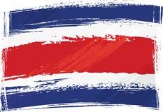 De vlag van Costa Rica van Grunge Stock Afbeeldingen