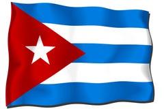 De Vlag van Cuba Stock Afbeelding