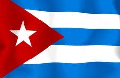 De Vlag van Cuba Stock Foto