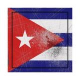 De vlag van Cuba in concreet vierkant royalty-vrije illustratie