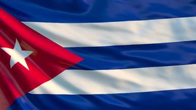 De Vlag van Cuba Golvende vlag van Cuba 3D Illustratie stock illustratie