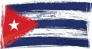 De vlag van Cuba van Grunge Stock Foto's