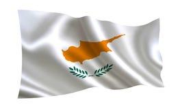 De vlag van Cyprus, a-reeks van `-Vlaggen van de wereld ` Het land - de vlag van Cyprus Royalty-vrije Stock Foto
