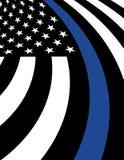 De Vlag van de achtergrond politiesteun Illustratie stock illustratie