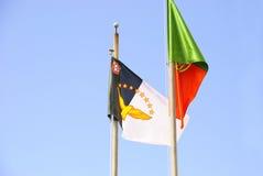 De vlag van de Azoren Stock Fotografie