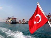 De vlag van de boot Stock Fotografie