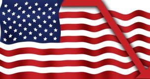 De Vlag van de crisis stock afbeeldingen