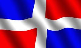 De Vlag van de Dominicaanse Republiek Stock Afbeelding