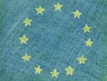 De vlag van de EU/de Europese Unie Royalty-vrije Stock Fotografie
