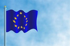 De Vlag van de Europese Unie Royalty-vrije Stock Foto's