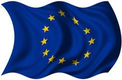 De Vlag van de Europese Unie stock illustratie