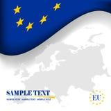 De vlag van de Europese Unie. Stock Foto's