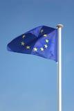 De vlag van de Europese Unie op wind Royalty-vrije Stock Foto's