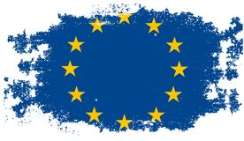 Grunge Europese Unie vlag Royalty-vrije Stock Foto's