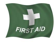 De vlag van de gezondheidszorg Stock Afbeelding