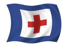 De vlag van de gezondheidszorg stock illustratie