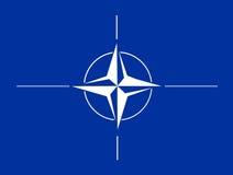 De vlag van de NAVO Royalty-vrije Stock Afbeeldingen