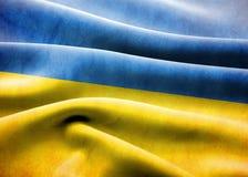 De vlag van de Oekraïne Stock Foto's