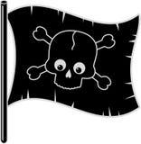 De vlag van de piraat vector illustratie