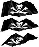 De Vlag van de piraat - heel Roger Flag Royalty-vrije Stock Foto's