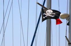 De vlag van de piraterij. Stock Foto's