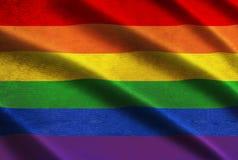 De vlag van de regenboog Stock Afbeelding