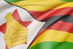 De vlag van de Republiek Zimbabwe het golven Royalty-vrije Stock Afbeeldingen